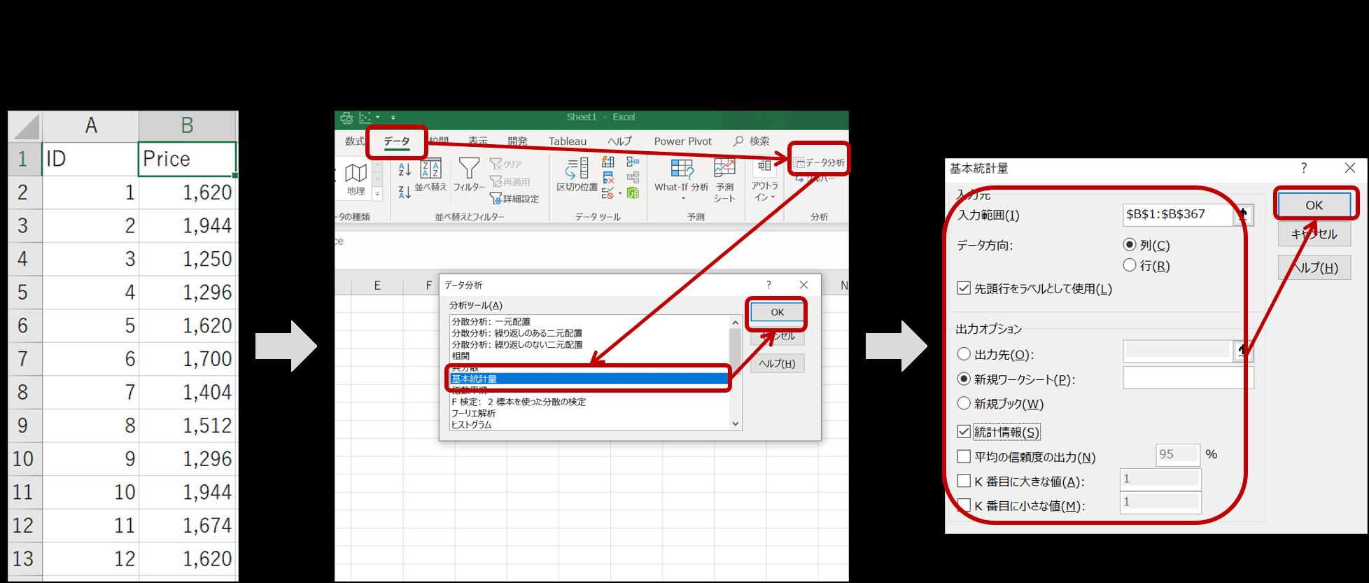 分析ツールの基本操作